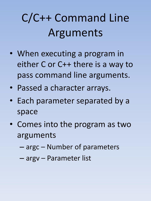 Command Line Arguments - ppt download