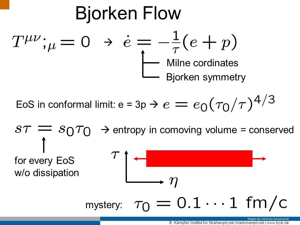 Bjorken Flow  Milne cordinates Bjorken symmetry