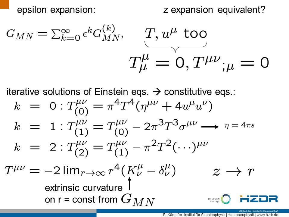 epsilon expansion: z expansion equivalent