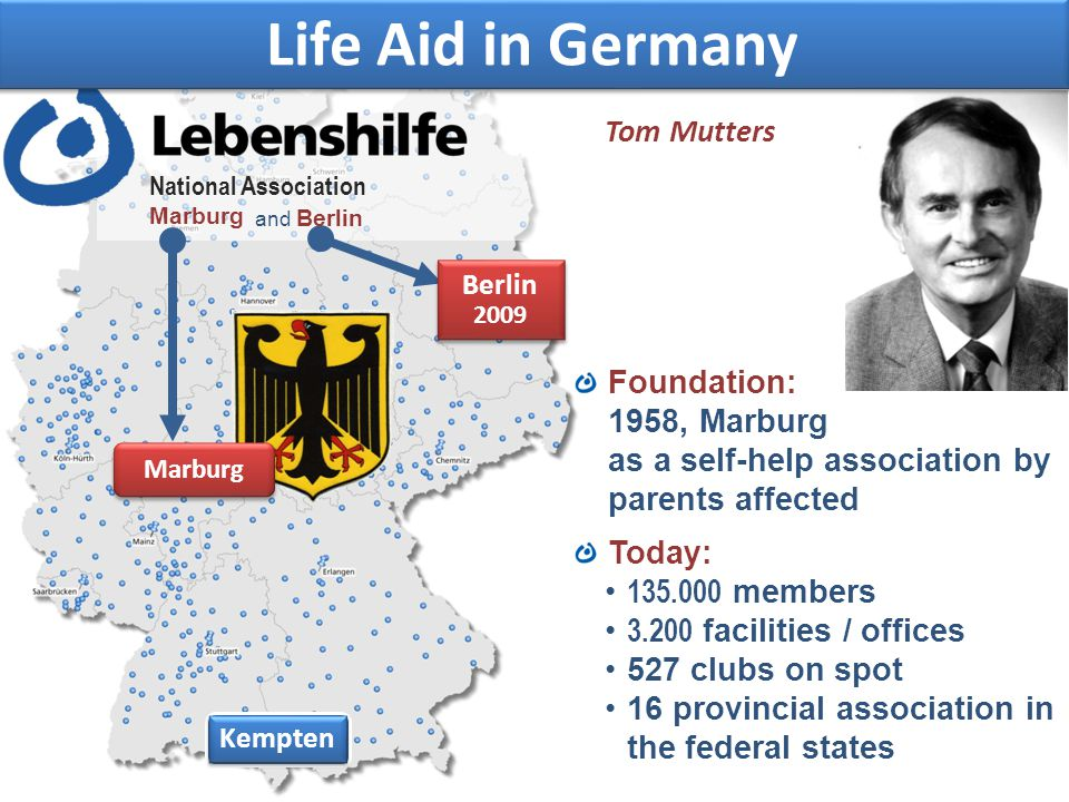 Life Aid in Germany Tom Mutters