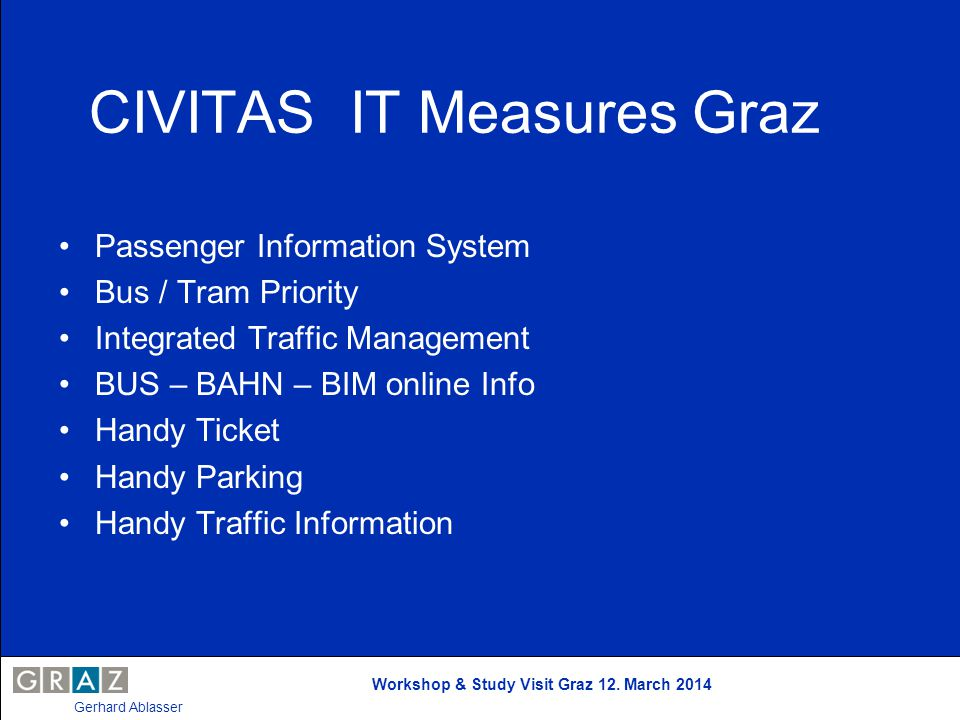 CIVITAS IT Measures Graz