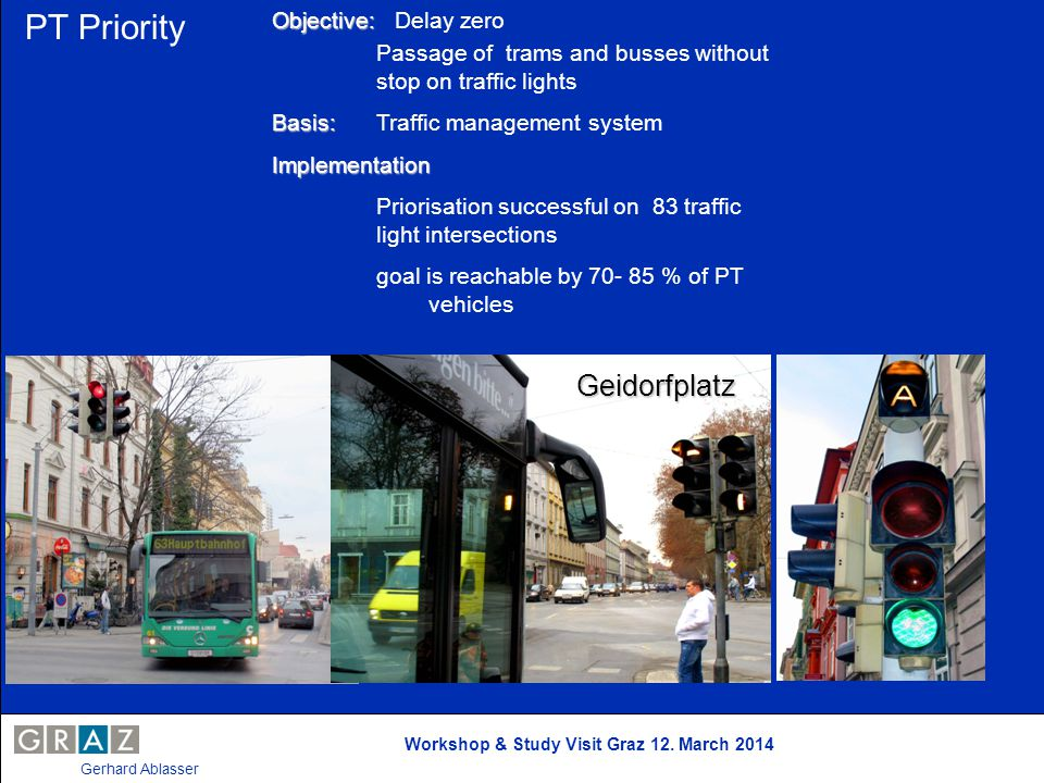 PT Priority Geidorfplatz Objective: Delay zero