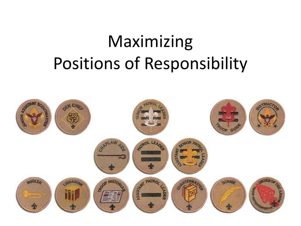 Maximizing Positions of Responsibility
