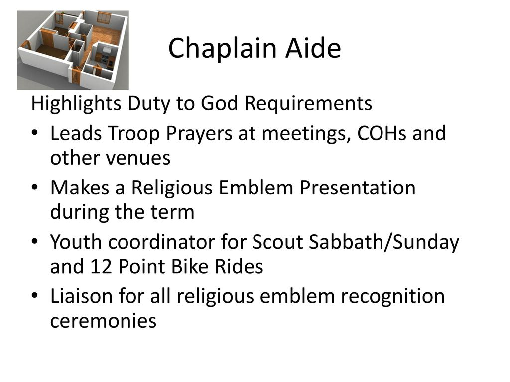 Chaplain Aide Highlights Duty to God Requirements