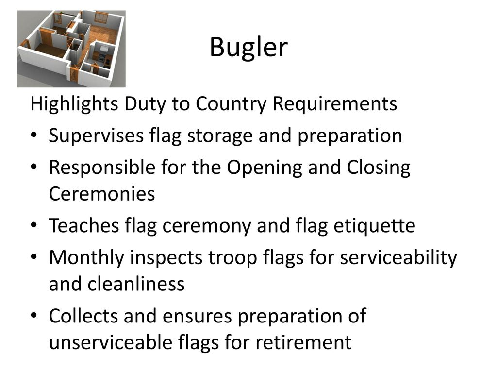 Bugler Highlights Duty to Country Requirements