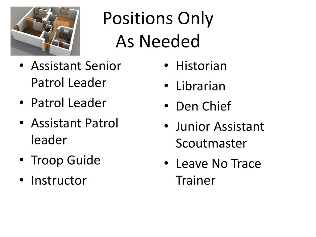 Positions Only As Needed