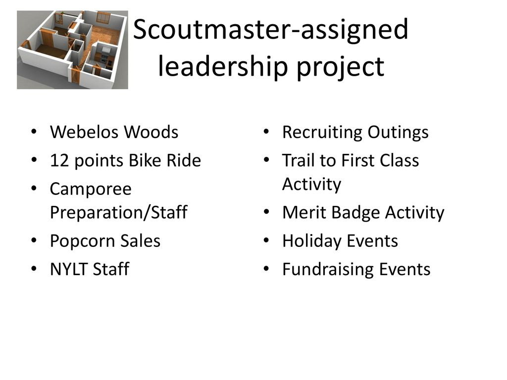 Scoutmaster-assigned leadership project