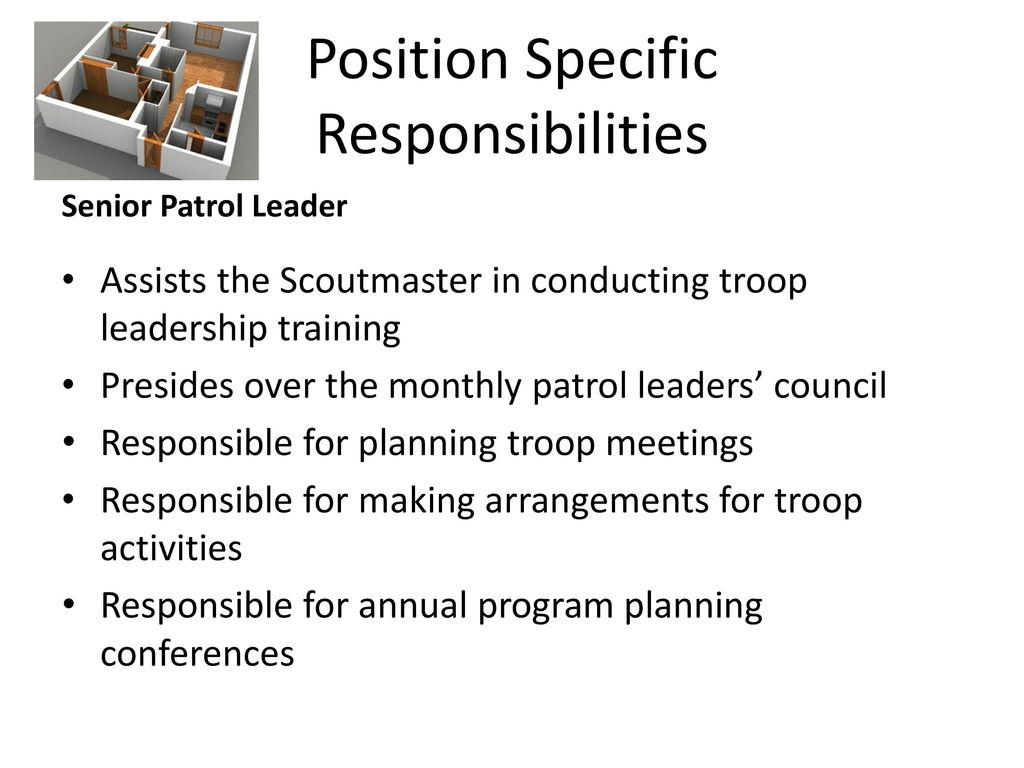 Position Specific Responsibilities