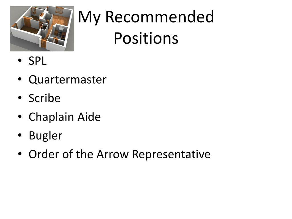 My Recommended Positions