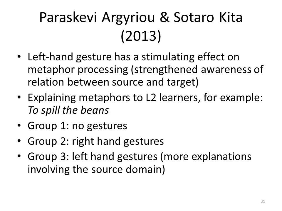 Paraskevi Argyriou & Sotaro Kita (2013)