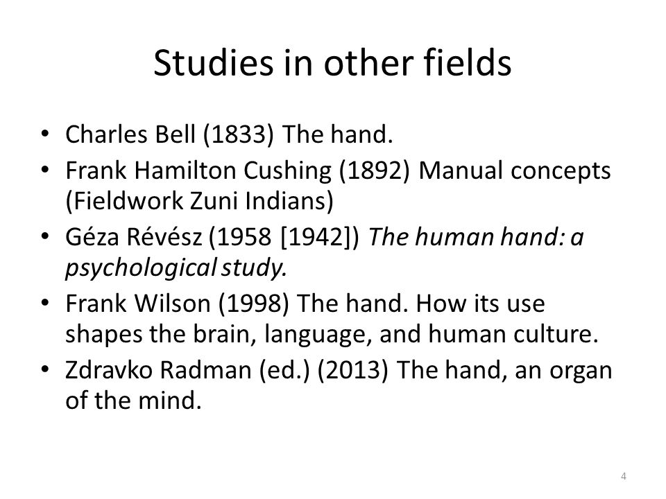 Studies in other fields