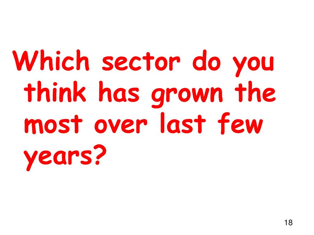 Which sector do you think has grown the most over last few years