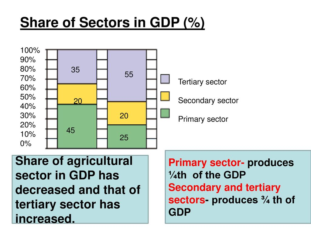 Share of Sectors in GDP (%)