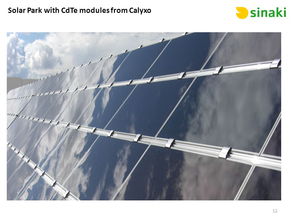 Solar Park with CdTe modules from Calyxo