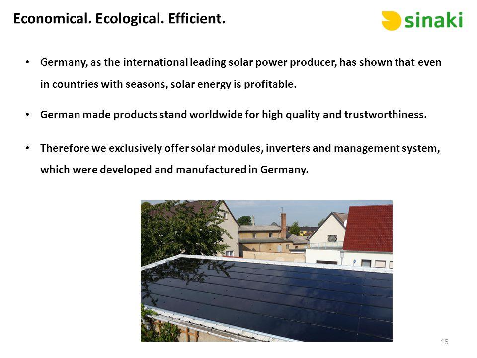 Economical. Ecological. Efficient.