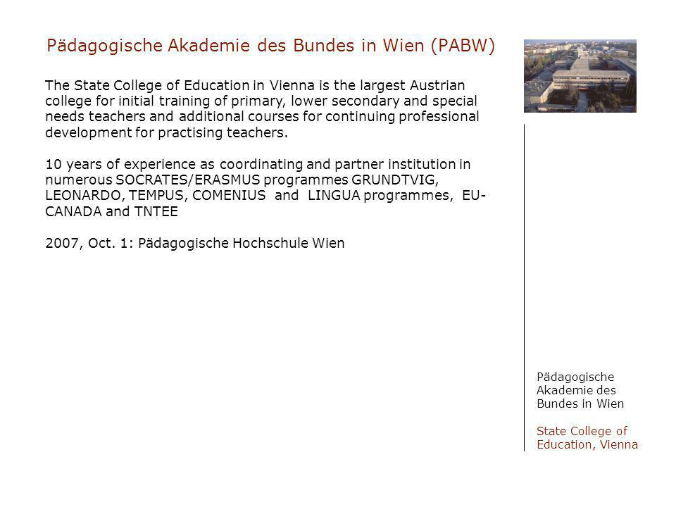 Pädagogische Akademie des Bundes in Wien (PABW)