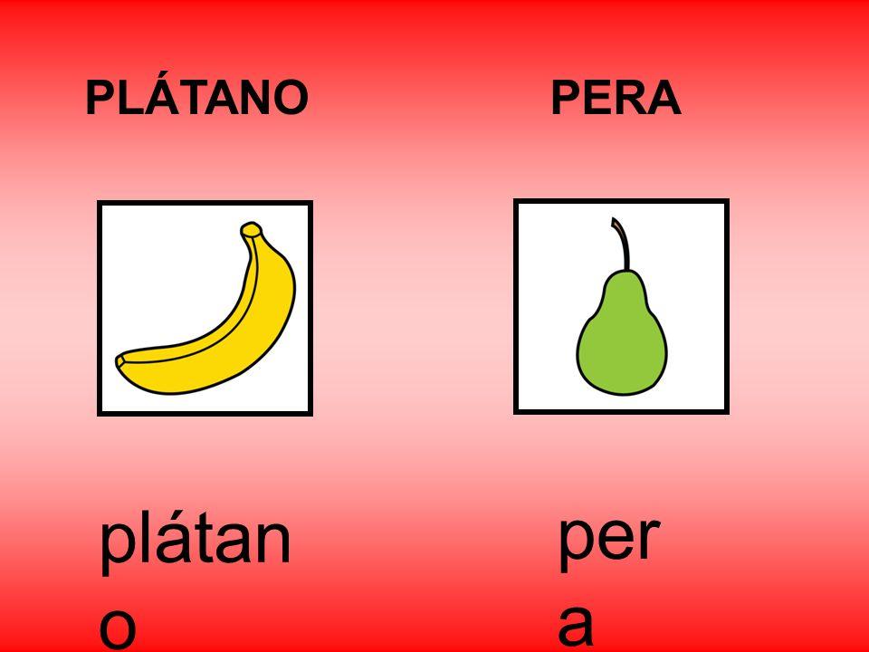 PLÁTANO PERA plátano pera