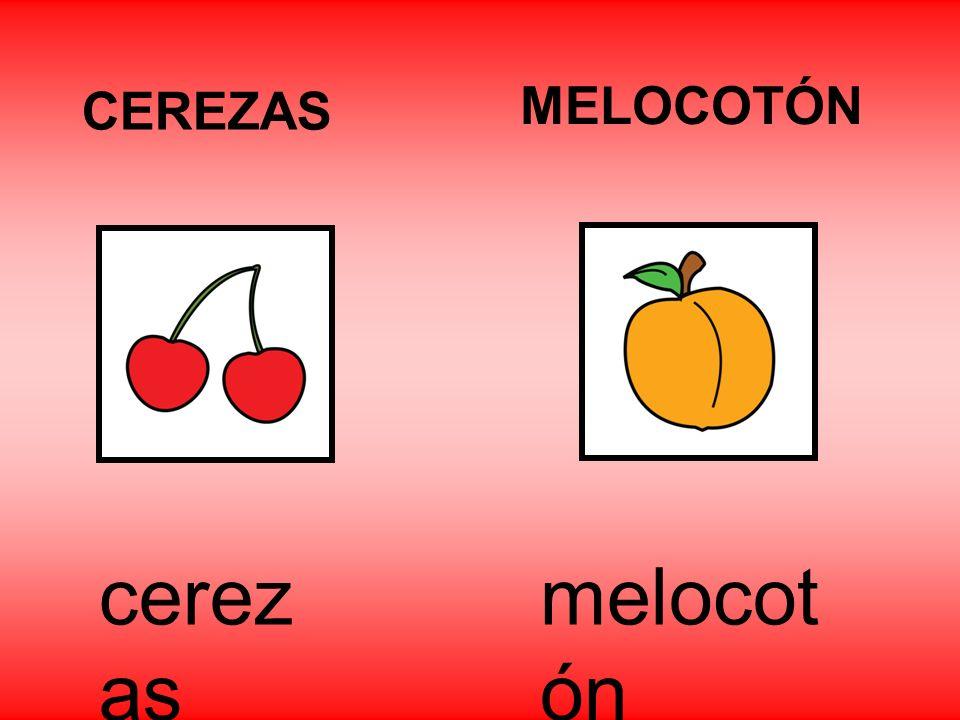 CEREZAS MELOCOTÓN cerezas melocotón