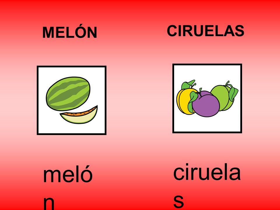 MELÓN CIRUELAS ciruelas melón