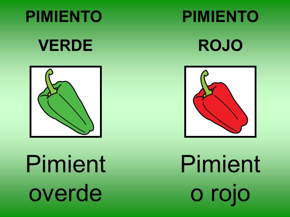 PIMIENTO VERDE PIMIENTO ROJO Pimientoverde Pimiento rojo