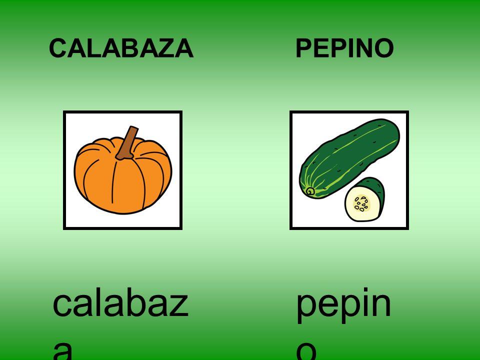 CALABAZA PEPINO calabaza pepino
