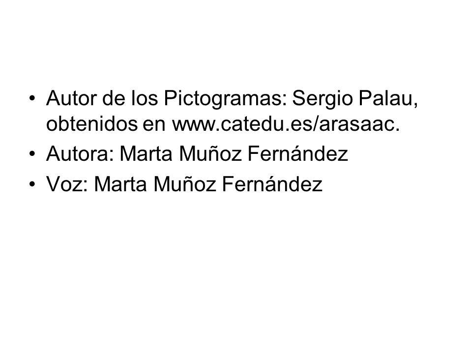 Autor de los Pictogramas: Sergio Palau, obtenidos en www. catedu