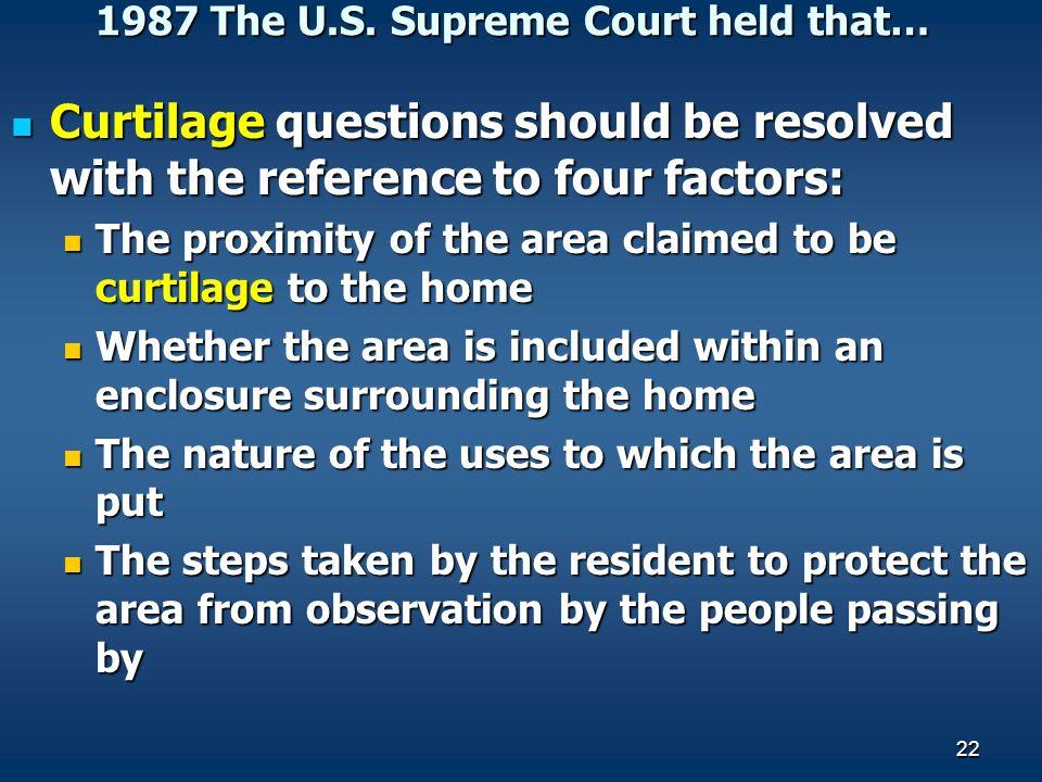 1987 The U.S. Supreme Court held that…