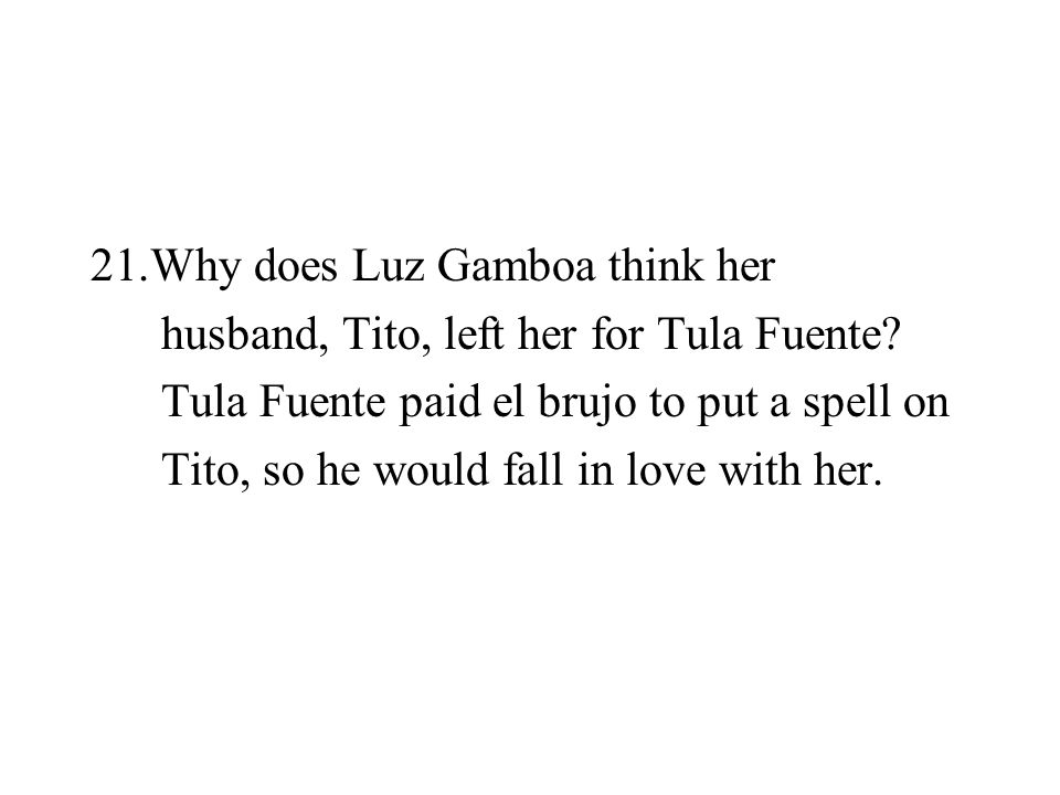 Why does Luz Gamboa think her