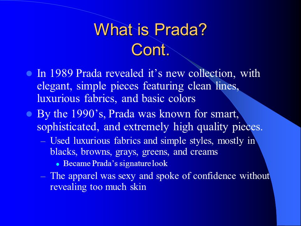 What is Prada Cont.