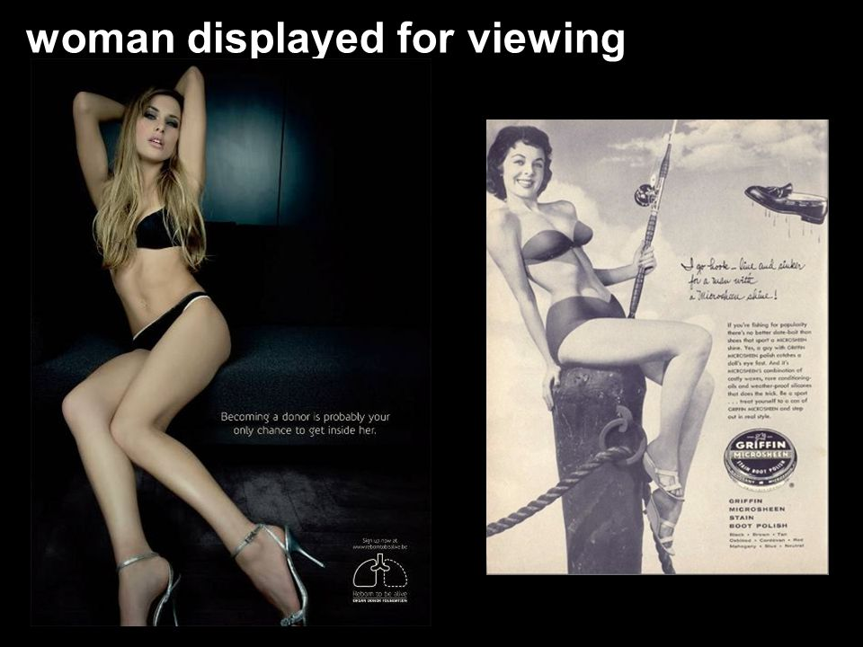 woman displayed for viewing