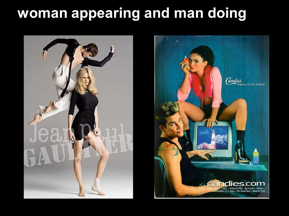 woman appearing and man doing