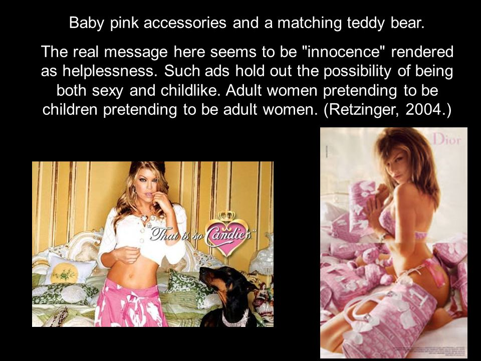Baby pink accessories and a matching teddy bear.