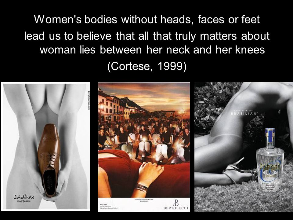 Women s bodies without heads, faces or feet