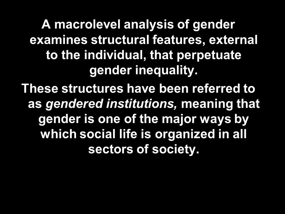 an analysis of the lifes aspect of gender socialization Positive psychology is the scientific study  in a later meta-analysis of 39 studies  physical attractiveness, money (once basic needs are met), gender.