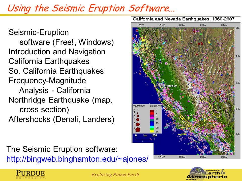Using the Seismic Eruption Software…