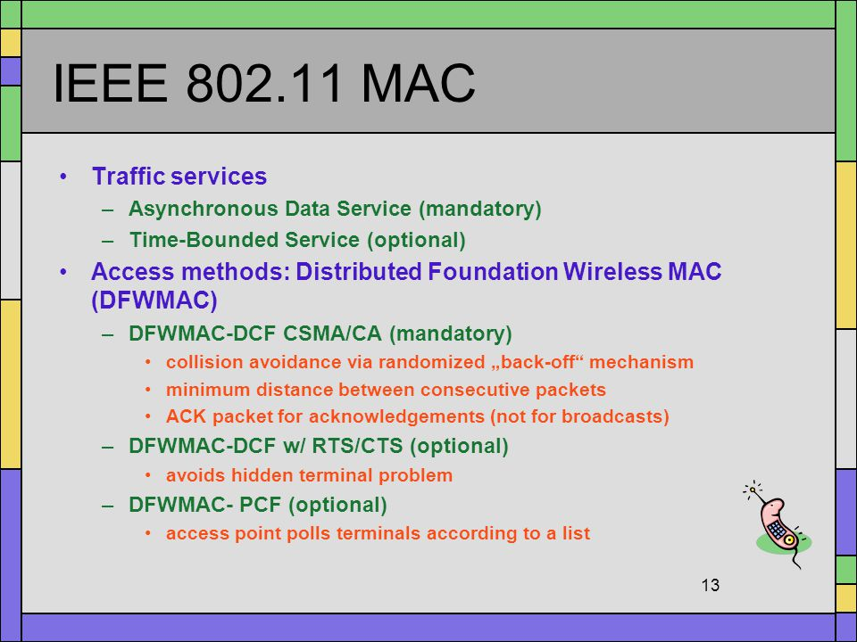 IEEE 802.11 MAC Traffic services