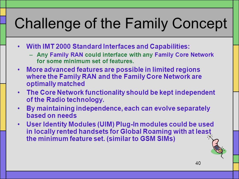 Challenge of the Family Concept