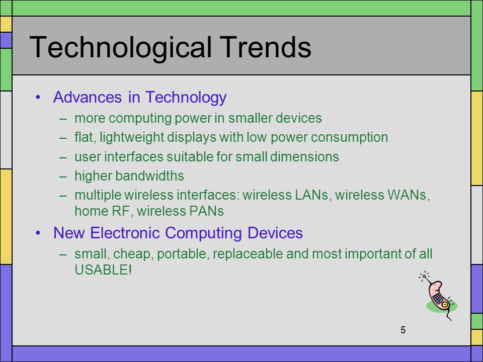Technological Trends Advances in Technology