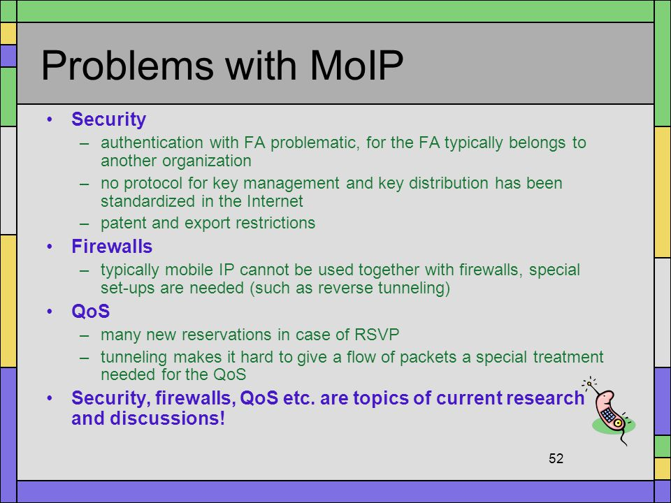 Problems with MoIP Security Firewalls QoS