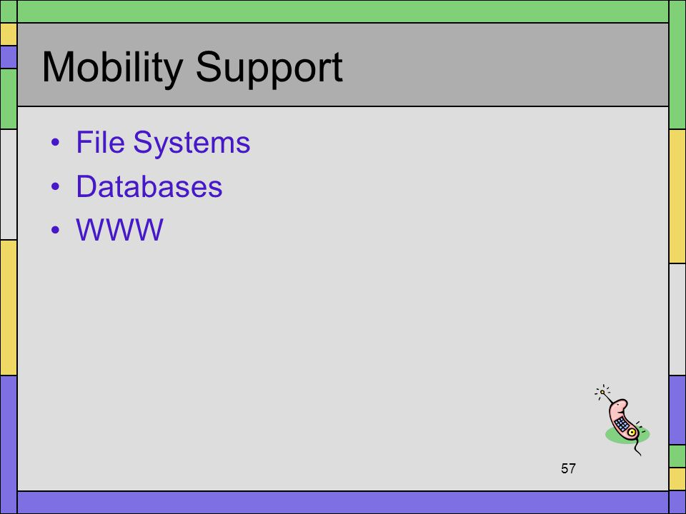 Mobility Support File Systems Databases WWW
