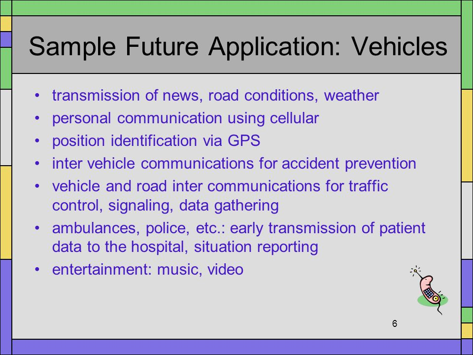 Sample Future Application: Vehicles