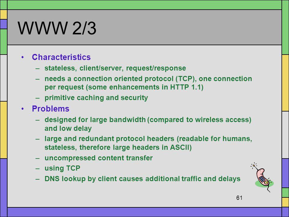 WWW 2/3 Characteristics Problems