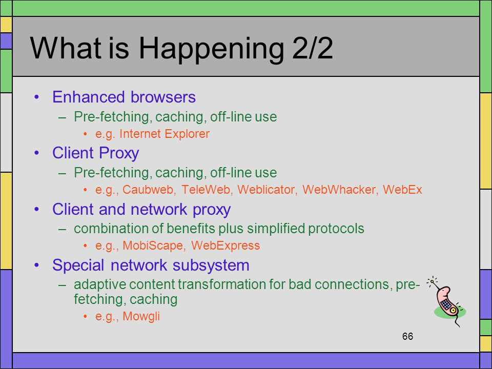 What is Happening 2/2 Enhanced browsers Client Proxy