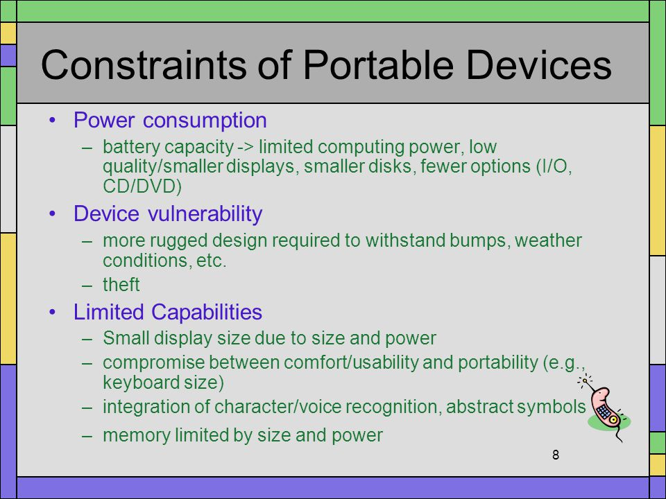 Constraints of Portable Devices