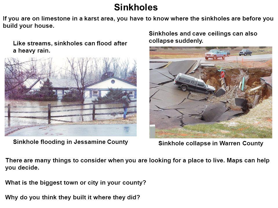 Sinkhole collapse in Warren County