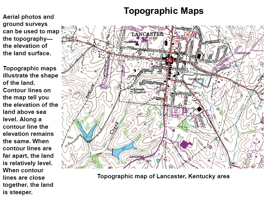 Topographic Maps Aerial photos and ground surveys