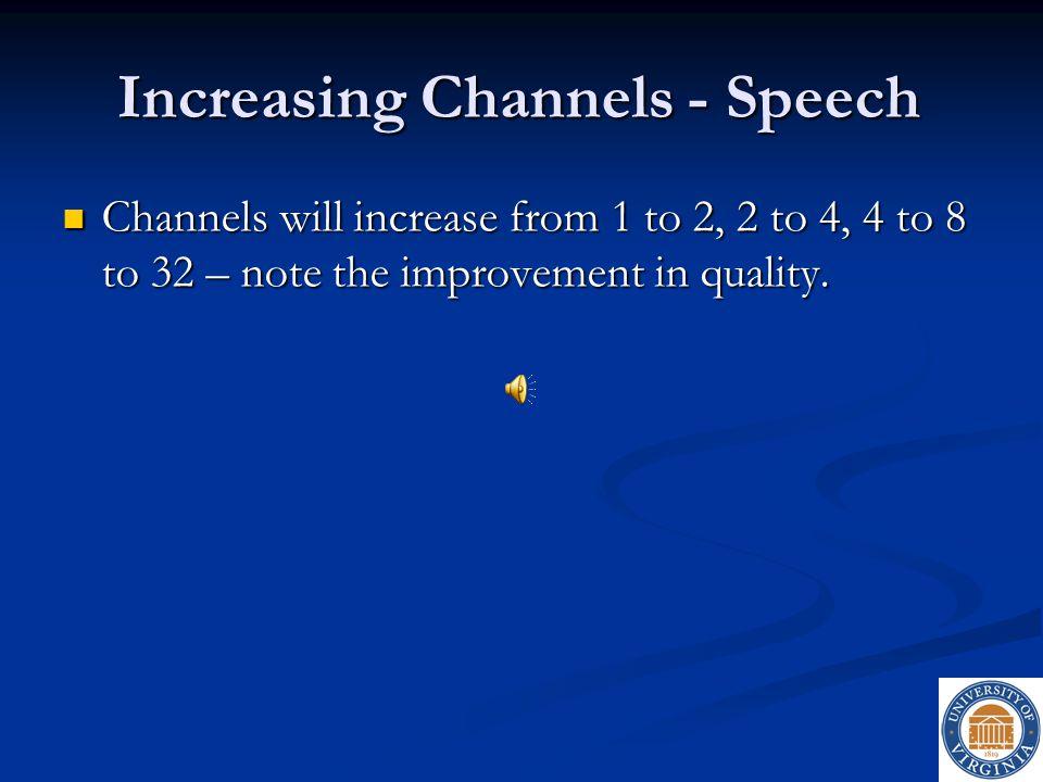 Increasing Channels - Speech