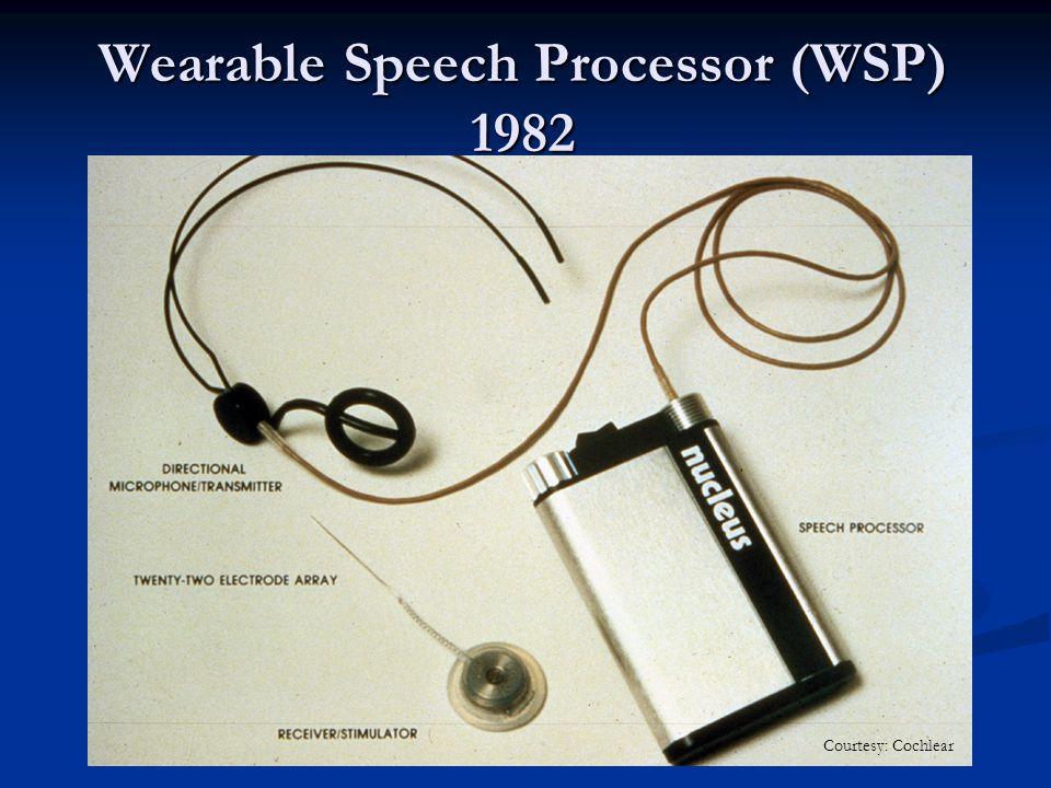 Wearable Speech Processor (WSP) 1982