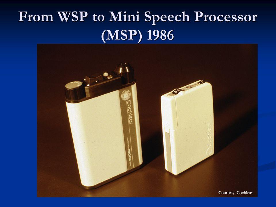 From WSP to Mini Speech Processor (MSP) 1986