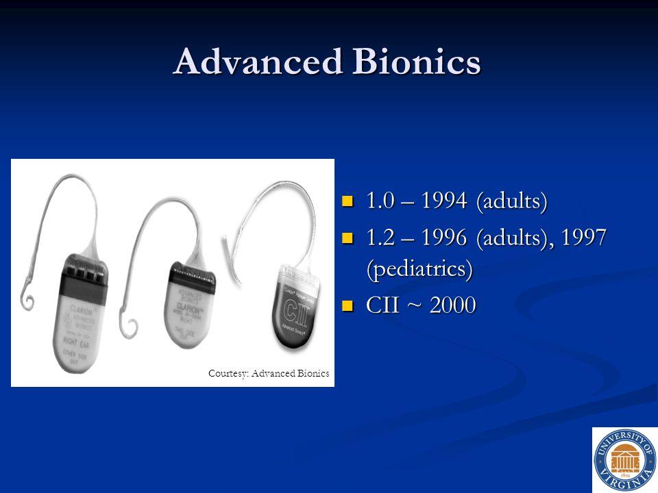 Advanced Bionics 1.0 – 1994 (adults)